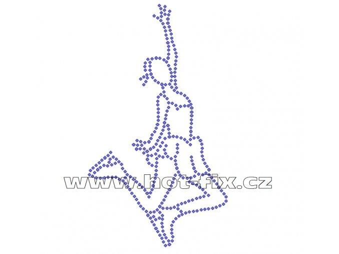 C130 krasobruslařka hot fix nažehlovací potisk na tričko, textil pro krasobruslaře hot fix kamínky