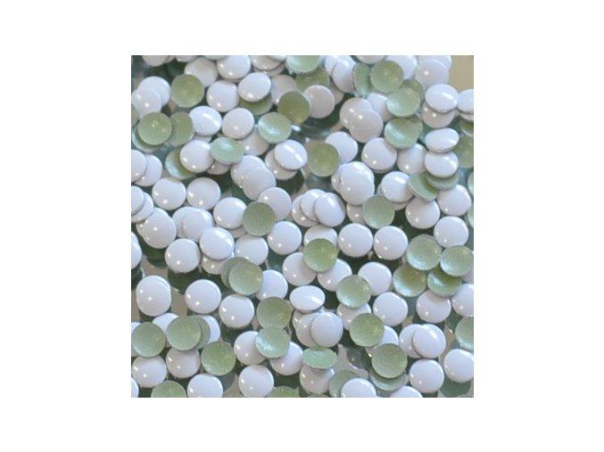kovové hot-fix kameny barva 29 bílá velikost 4mm, balení 100 nebo 500ks