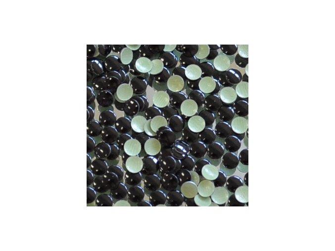 kovové hot-fix kameny barva 30 černá velikost 4mm, balení 100 nebo 500ks