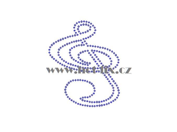 S012 houslový klíč hot fix nažehlovací potisk na tričko, textil hot fix kameny