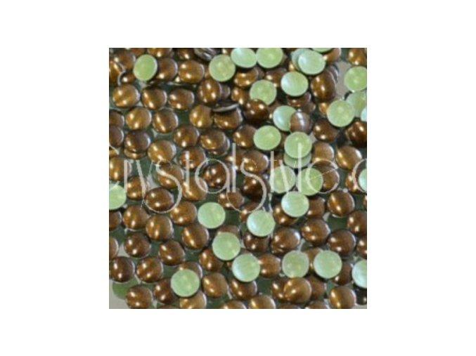 kovové hot-fix kameny barva 37 tmavě hnědá velikost 3mm, balení 100 nebo 500ks