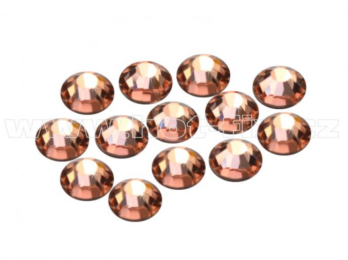 CBEP 1302 Apricot velikost SS16 hot fix kameny na textil celobroušené Premium Extra B
