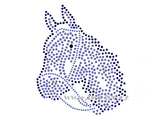 ZK009 verze A kůň nažehlovací potisk na textil, tričko hot fix kameny