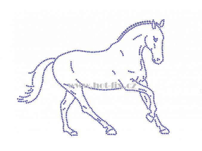 ZK019 horse kůň nažehlovací potisk na triko, textil nažehlovací hot fix kamínky