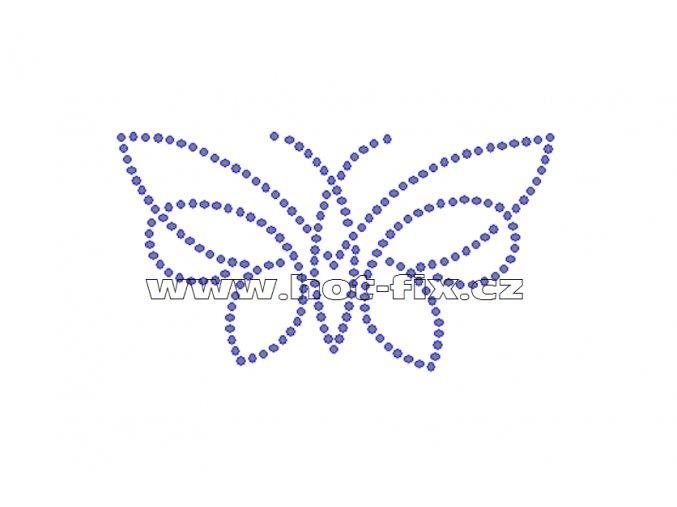 ZM027 motýl nažehlovací potisk na tričko, textil hot fix kamínky