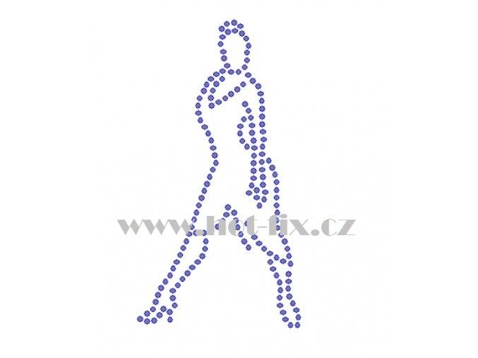 C134 tanečnice nažehlovací kamínkový potisk na tričko, textil skleněné hot fix kamínky