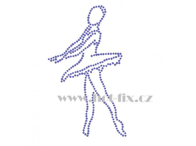 C137 baletka nažehlovací kamínkový potisk na tričko, textil skleněné hot fix kamínky