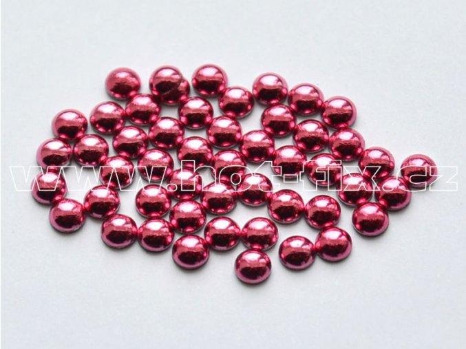 hot-fix perla barva SA315 růžová, velikost 5mm, balení 100 nebo 500ks
