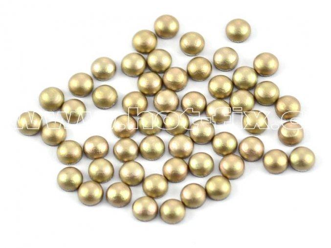 hot-fix perla barva SA342 béžová mat, velikost 4mm, balení 100 nebo 500ks