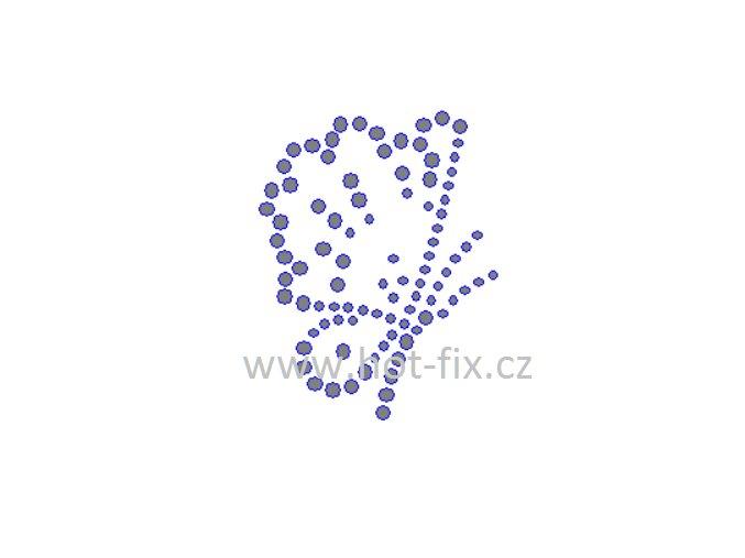 ZM047 motýl hot fix nažehlovací aplikace na tričko, textil hot fix kamínky