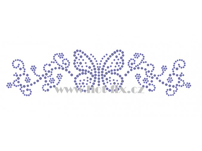 ZM049 motýl ozdobný pás hot fix nažehlovací potisk na tričko, textil hot fix kamínky