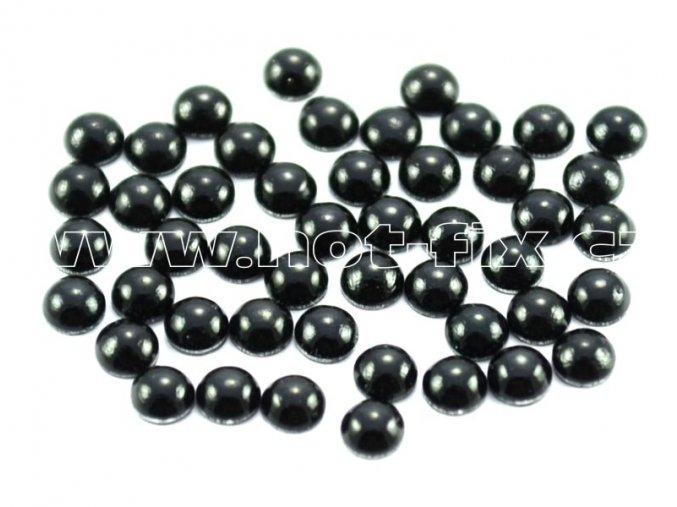 hot-fix perla barva SA302 černá, velikost 4mm, balení 100 nebo 500ks