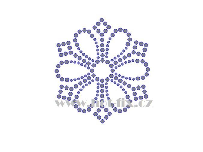 O040 ornament nažehlovací kamínková aplikace na tričko, textil hot fix kameny