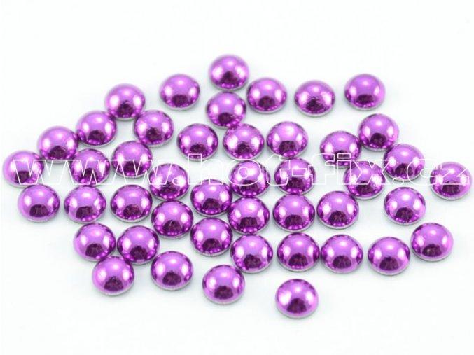 hot-fix perla barva SA304 fialová, velikost 4mm, balení 100 nebo 500ks