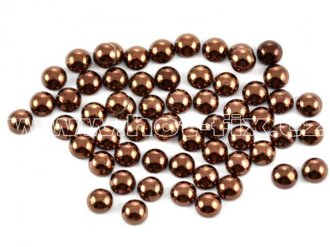 hot-fix perla barva SA307 hnědá, velikost 4mm, balení 100 nebo 500ks