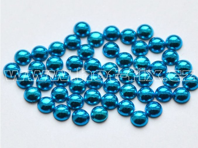 hot-fix perla barva SA312 modrá sky, velikost 4mm, balení 100 nebo 500ks