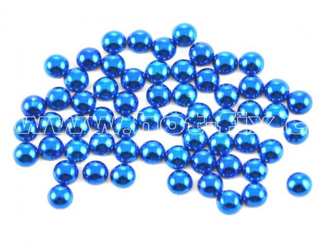 hot-fix perla barva SA309 modrá, velikost 5mm, balení 100 nebo 500ks