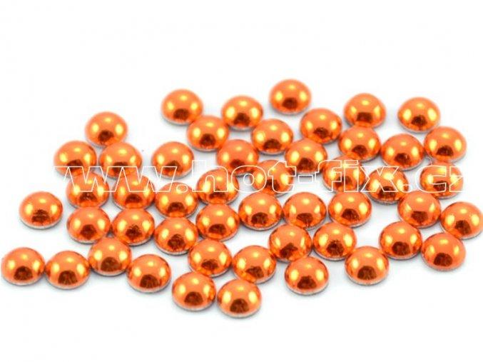 hot-fix perla barva SA317 oranžová, velikost 4mm, balení 100 nebo 500ks