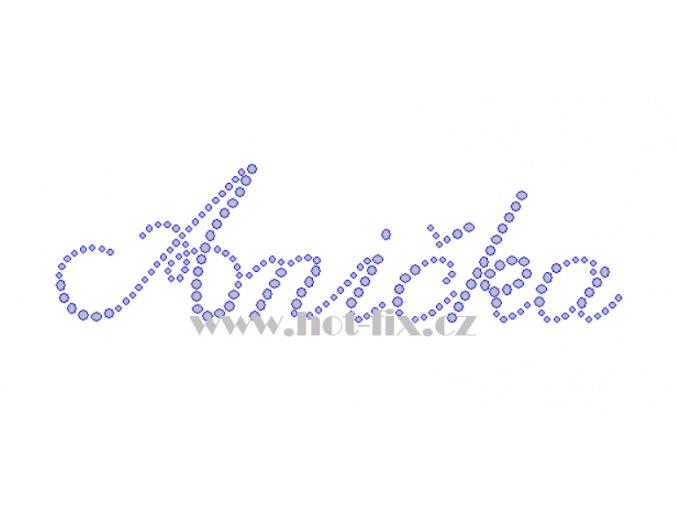 Anička nažehlovací kamínková aplikace na textil hot fix kameny jména