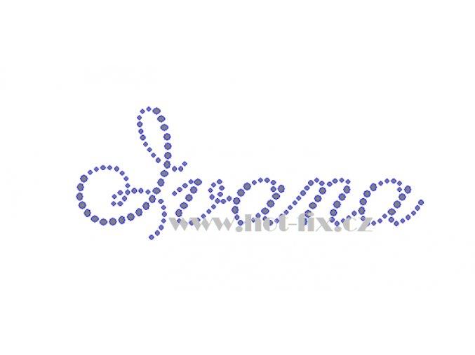 Ivana jména nažehlovací kamínková aplikace na textil hot fix kameny