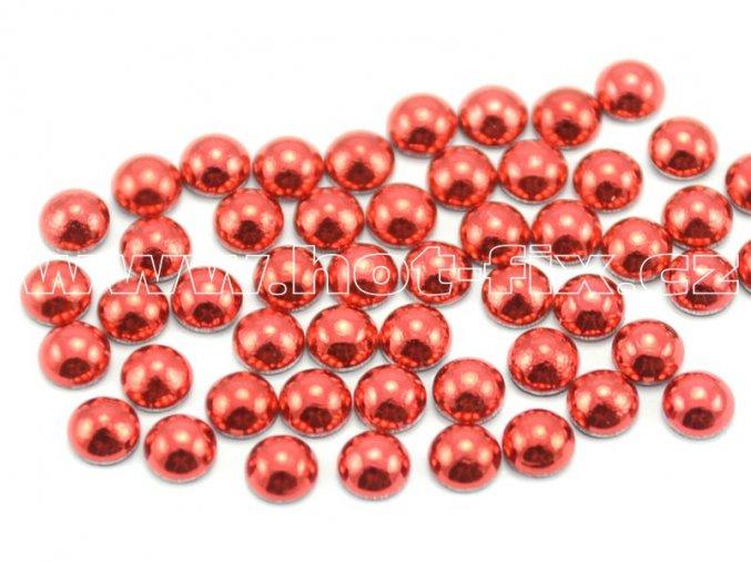 hot-fix perly barva SA313 ČERVENÁ - sada 4x100ks (balení 2, 3, 4 a 5mm po 100ks)