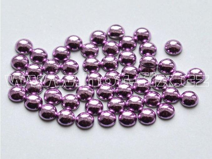 hot-fix perly barva SA316 SVĚTLE FIALOVÁ - sada 4x100ks (balení 2, 3, 4 a 5mm po 100ks)