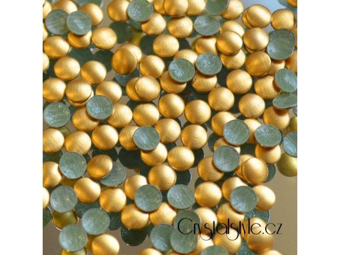 hot-fix kovové kamínky barva 02 ZLATÁ MAT - sada 4x100ks (balení 2, 3, 4 a 5mm po 100ks)
