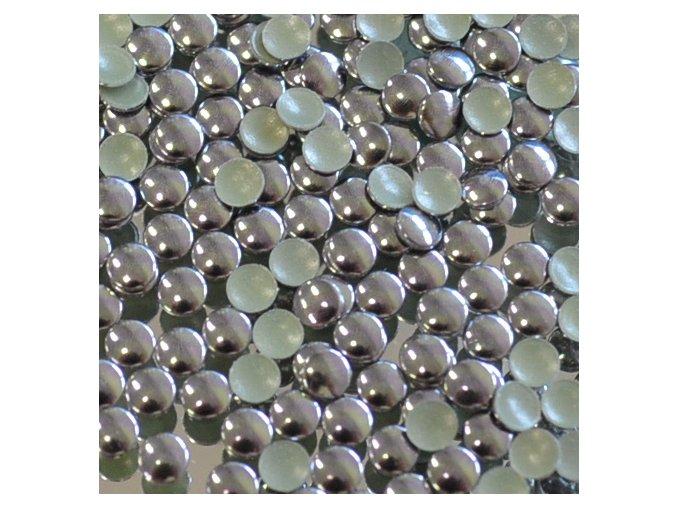 hot-fix kovové kamínky barva 09 BRONZ TMAVÝ - sada 4x100ks (balení 2, 3, 4 a 5mm po 100ks)