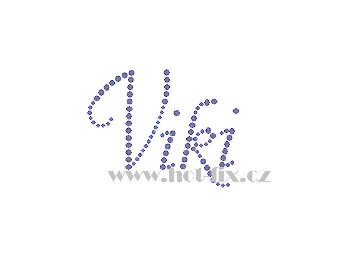 Viki nažehlovací aplikace nažehlovací kamínkový potisk na textil hot fix kameny jména