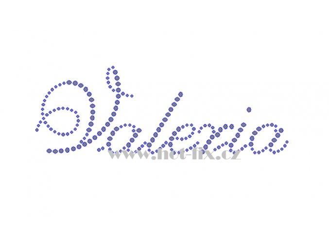 Valeria jména nažehlovací kamínková aplikace na textil hot fix kameny