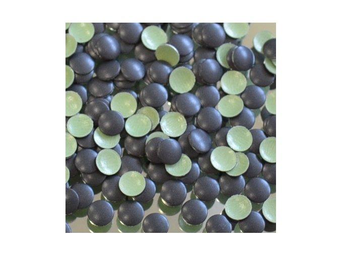 hot-fix kovové kamínky barva 31 ČERNÁ MAT - sada 4x100ks (balení 2, 3, 4 a 5mm po 100ks)