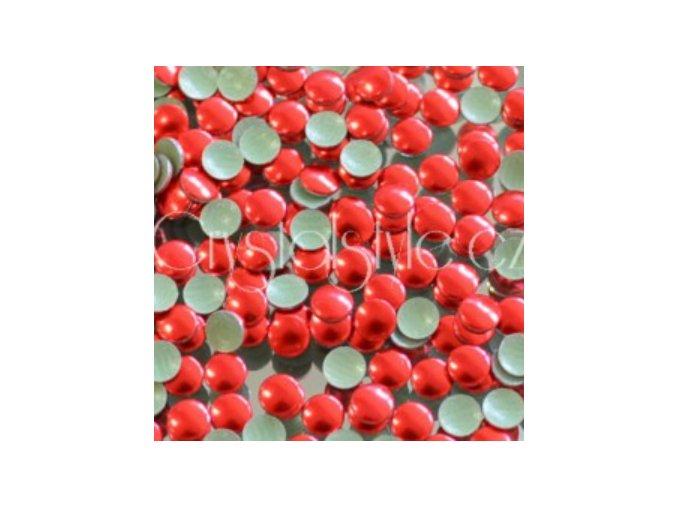 hot-fix kovové kamínky barva 32 ČERVENÁ - sada 4x100ks (balení 2, 3, 4 a 5mm po 100ks)