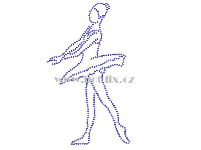 C157 baletka nažehlovací kamínkový potisk na tričko, textil skleněné hot fix kamínky