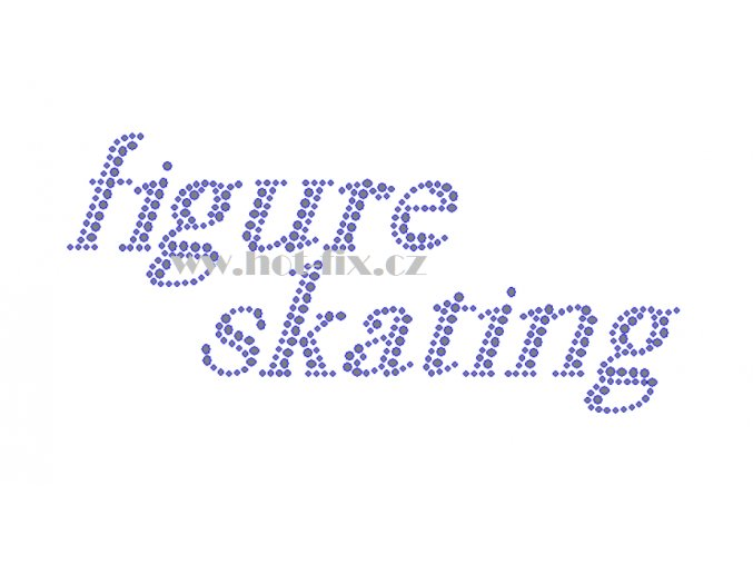 C164 figure skating nažehlovací kamínkový potisk na tričko, textil skleněné hot fix kameny