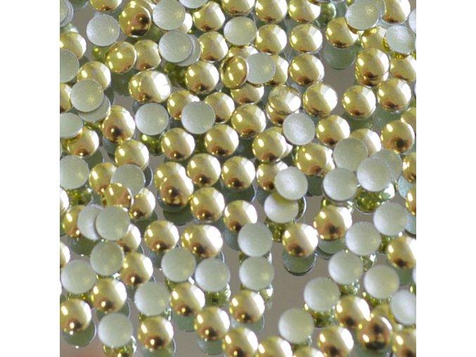 kovové hot-fix kameny barva 01 zlatá lesk velikost  7mm, balení 100 nebo 500ks