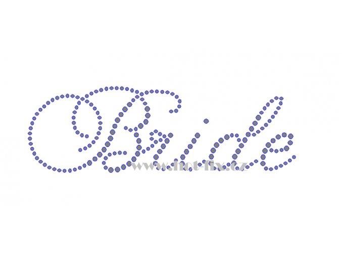 SVAT056 Bride Bride hot fix nažehlovací potisk na tričko, textil na párty pro budoucí nevěstu nažehlovací hot fix kameny