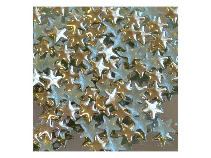 hot-fix kovová HVĚZDA barva ZLATÁ, velikost  5mm, balení 100 nebo 500ks