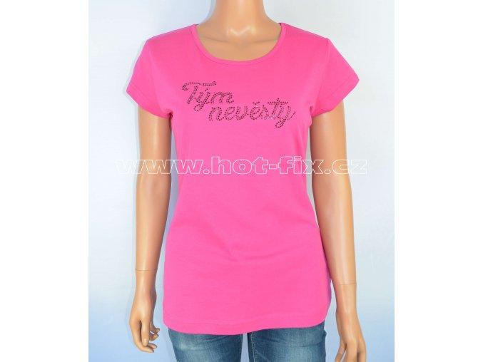 6 B Tým nevěsty tričko pro družičky a kamarádky nevěsty na předsvatební párty a rozlučku se svobodou hot fix kameny