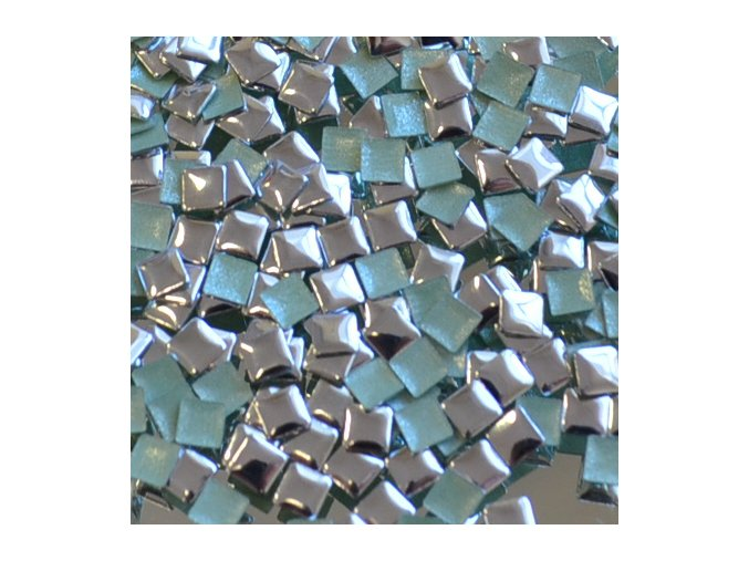 hot-fix kovový ČTVEREC barva STŘÍBRNÁ, velikost  3x3mm, balení 100 nebo 500ks