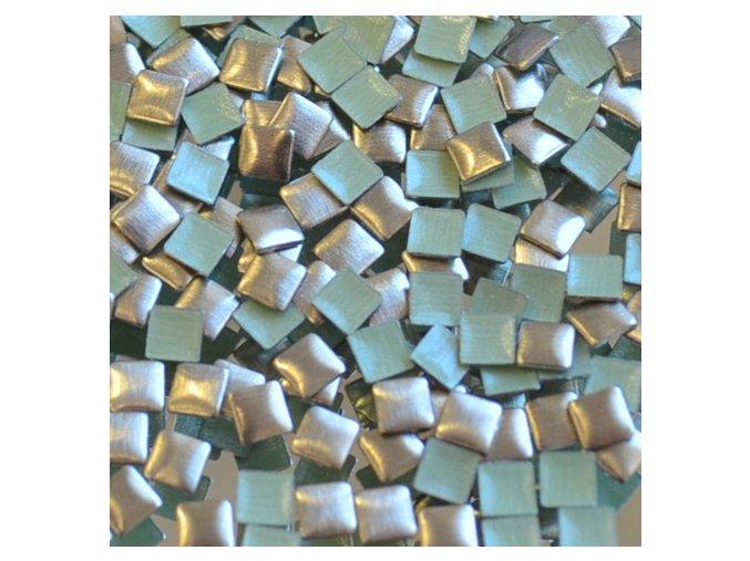 hot-fix kovový ČTVEREC barva BRONZ MAT, velikost 3x3mm, balení 100 nebo 500ks