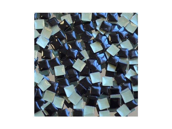 hot-fix kovový ČTVEREC barva ČERNÁ, velikost 3x3mm, balení 100 nebo 500ks