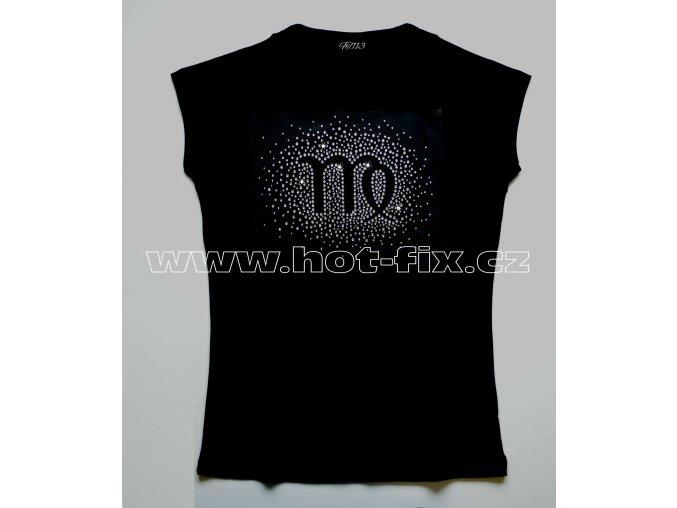 06 Panna tričko znamení zvěrokruhu znamení Panny kameny rozptyl