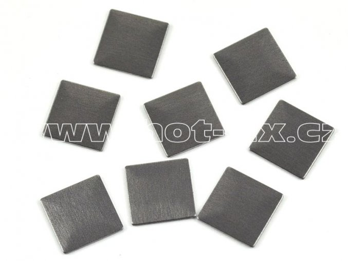 čtverec 10x10mm bronz mat tmavý kovové hot fix kamínky na textil