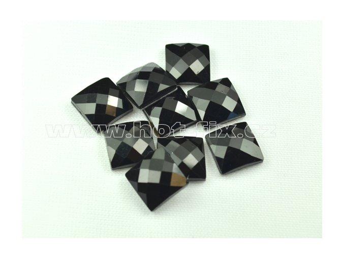 hot-fix kameny epoxy ČTVEREC barva černá, velikost 12x12mm, balení 10 nebo 50ks