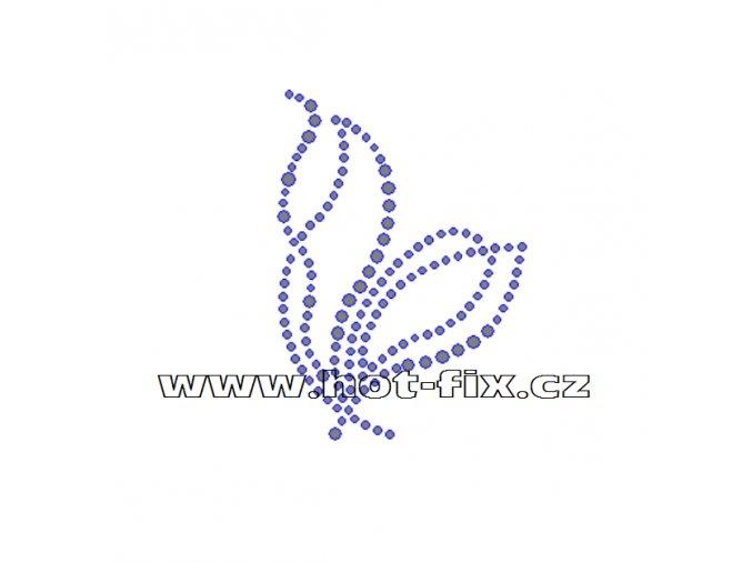 A005-P - hot-fix kamínková aplikace na textil abstraktní vzor, rozm. cca 5,4x7,5cm