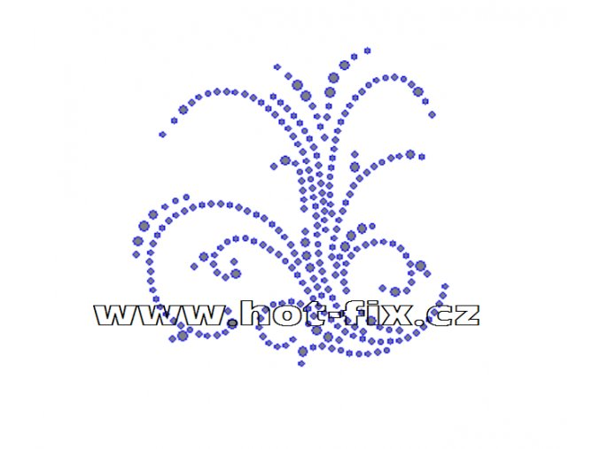 A021 - abstraktní motiv nažehlovací hot-fix kamínková aplikace, rozměry cca 9,3x9,4cm