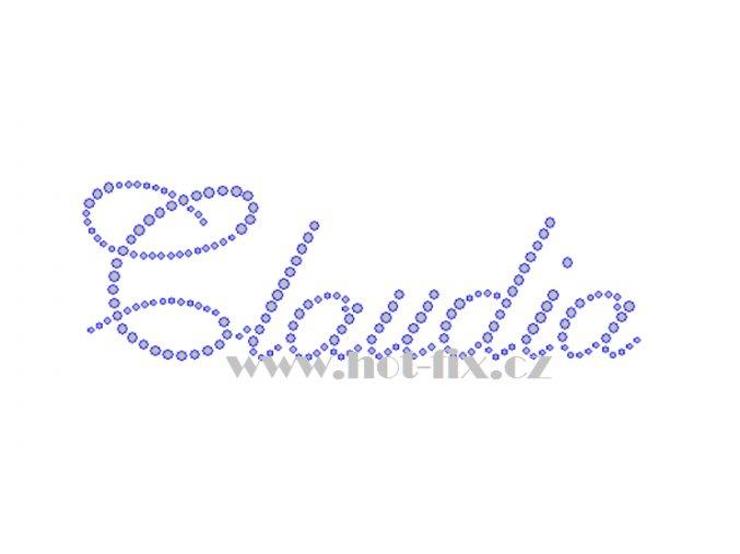 Claudia jména nažehlovací kamínková aplikace na textil hot fix kameny