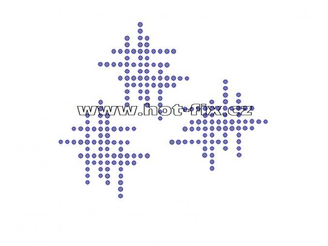 A031 - abstraktní motiv hot-fix kamínkový potisk na textil, rozměry cca 13,6x11,4cm
