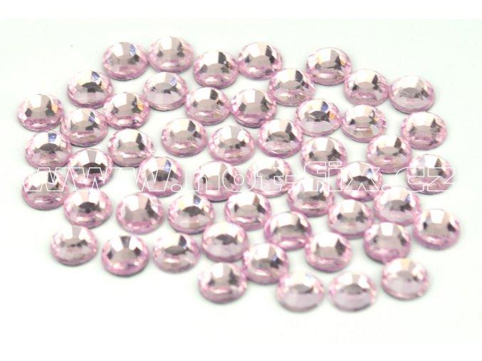 105 Rose světlý SS16 a SS20světle růžová nažehlovací hot fix kamínky na textil