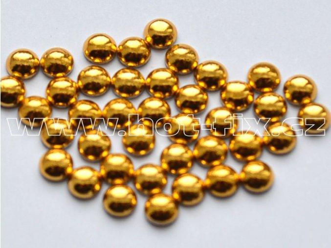hot-fix perla barva SA303 gold, velikost 6mm, balení 100 nebo 500ks